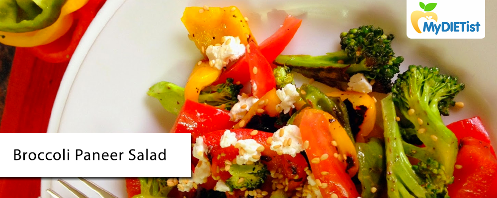 Effective Diet For Weight Loss Broccoli Paneer Salad