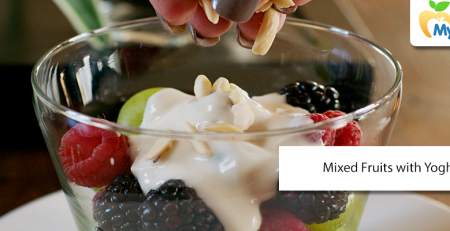 Mixed Fruits with Yogurt