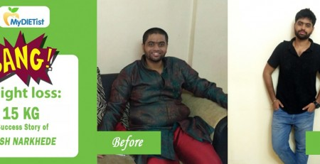 Weigh loss success story by Yash